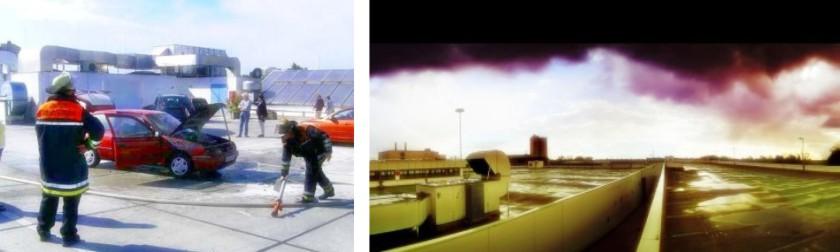 Parkdach und Beton-Belag müssen extremer Witterung und Unfällen standhalten