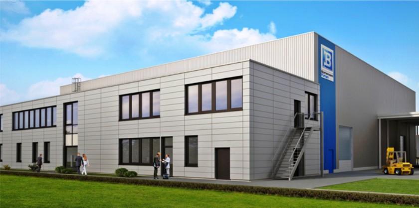parkcon - Neubau Produktionshalle Bornemann