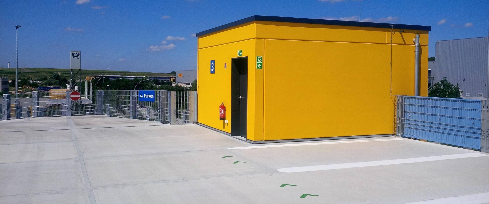 parkcon - Parkhaus Bau DHL - Parkdach